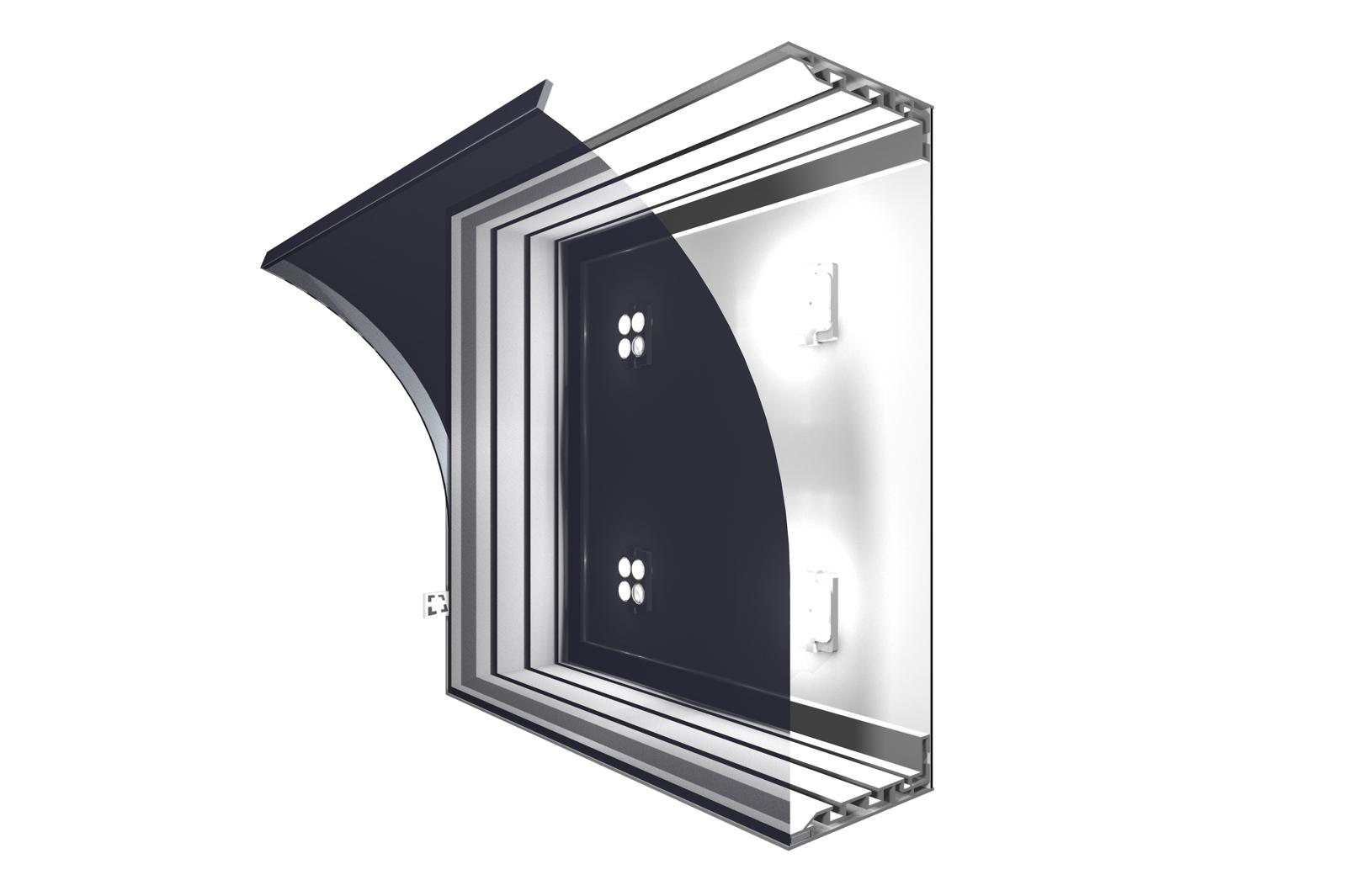 Leuchtkasten 120 mm, einseitig