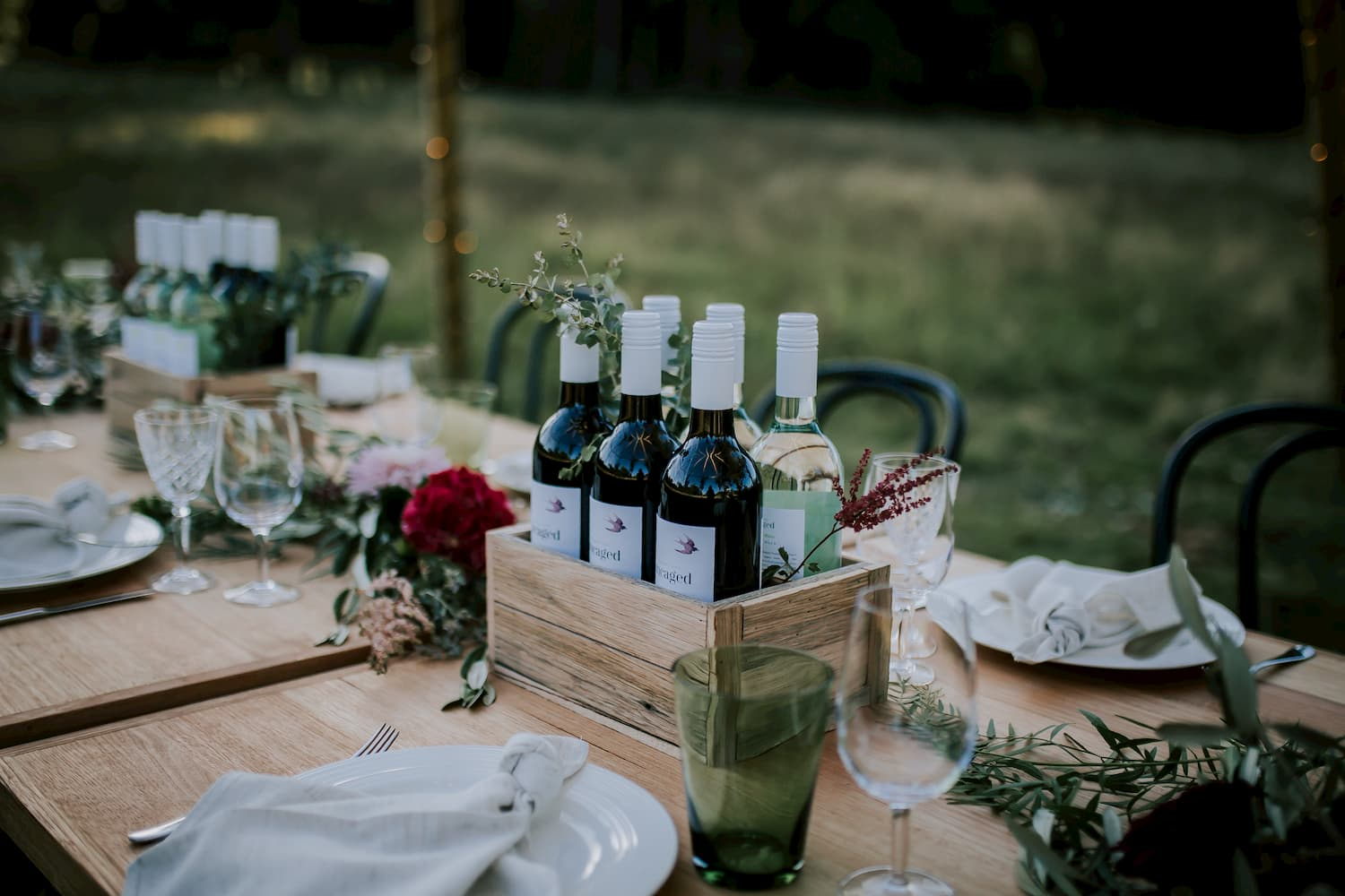 Styled Table outdoors