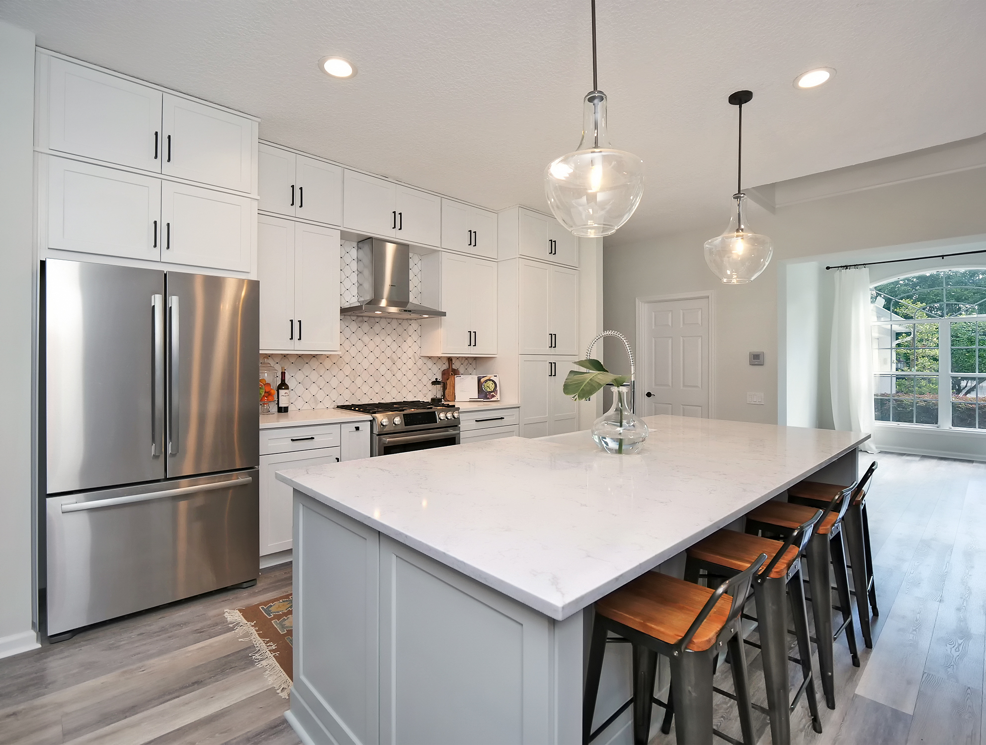 Remodeled Kitchen - Woodsman Kitchens and Cabinets
