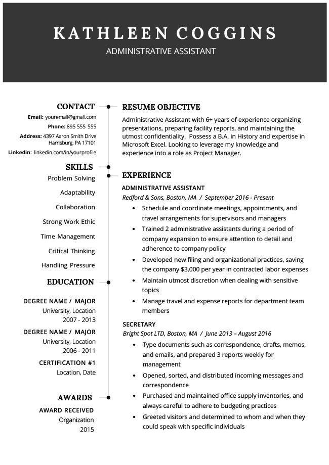 best ats resume example, ats resume, ats optimized resume, ats friendly resume
