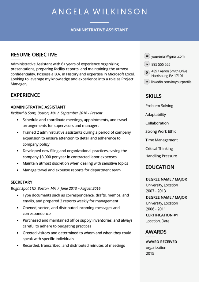 ats resume example, ats formatted resume example, ats friendly resume