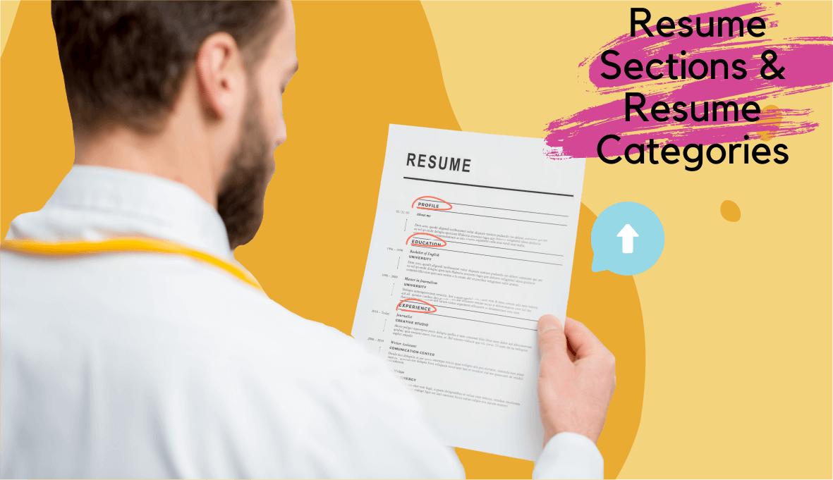 resume sections, sections on a resume , sections of a resume on Skillhub