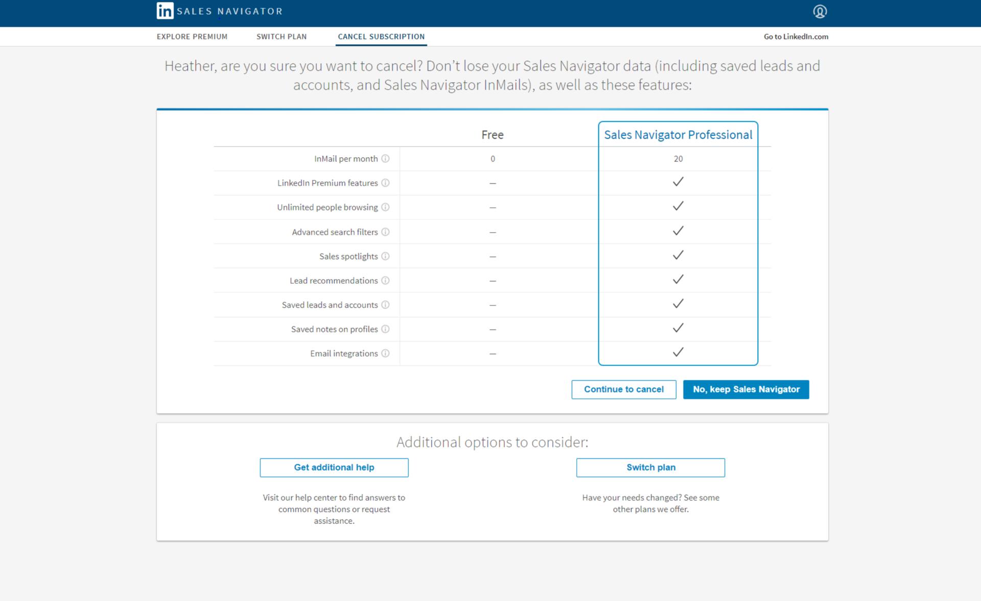 How to Cancel Your LinkedIn Premium Sales Navigator Account