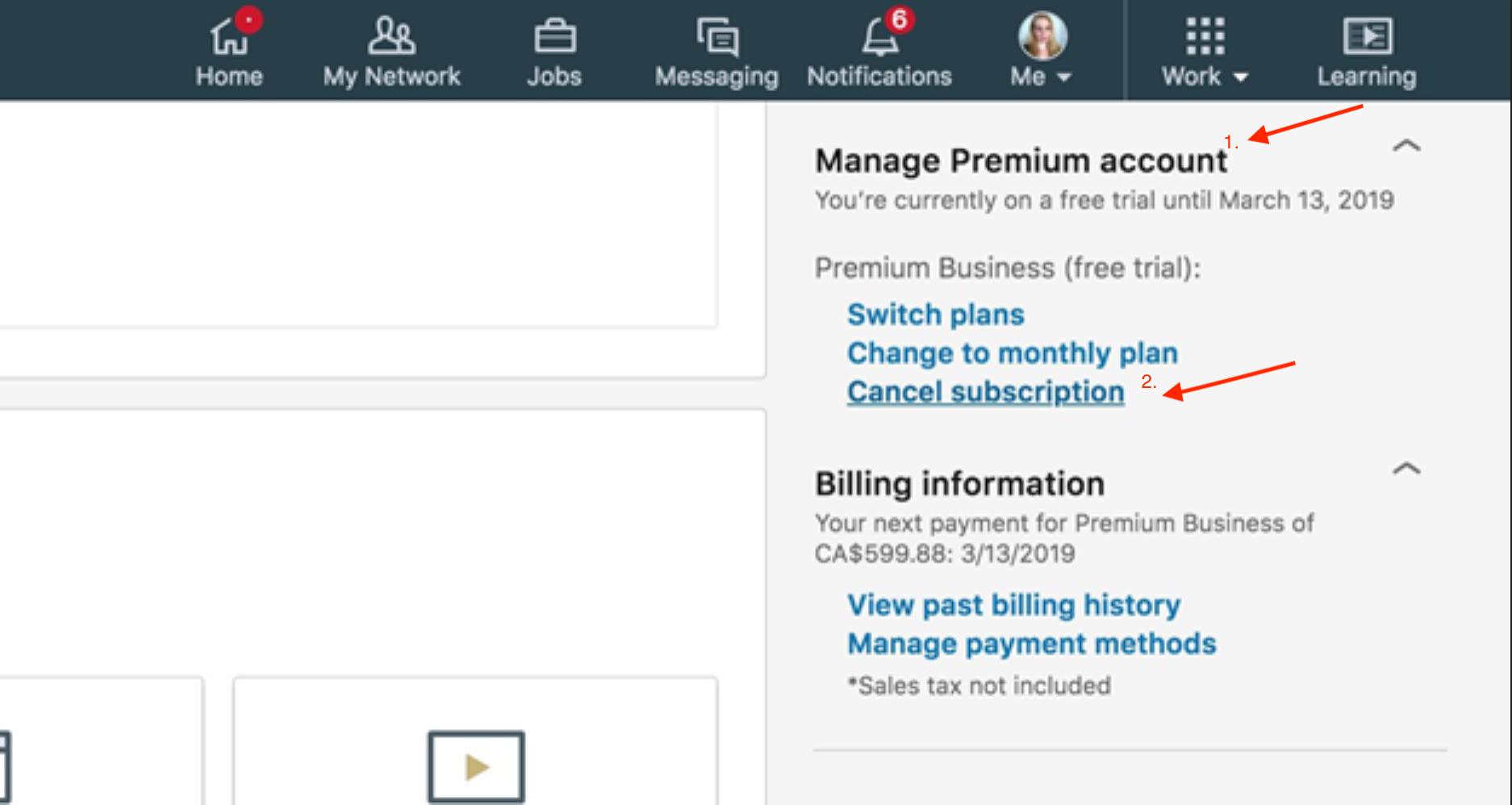 Manage premium linkedin account