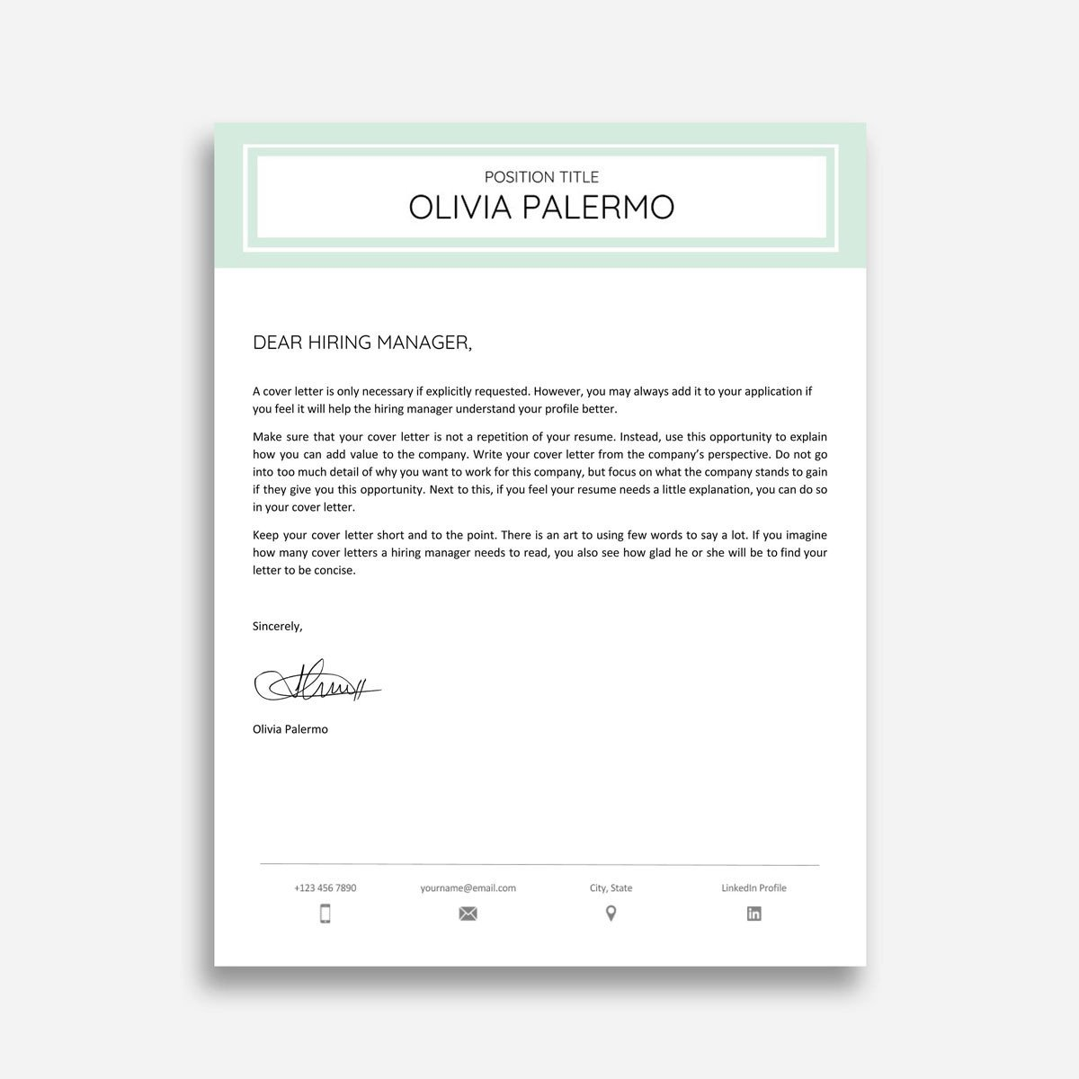 Are you in need of handwritten headline cover letter template? Use professional-written one.