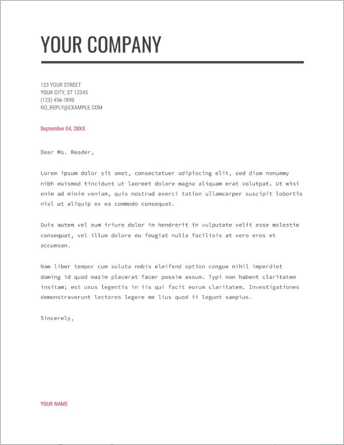 check modern writer cover letter template