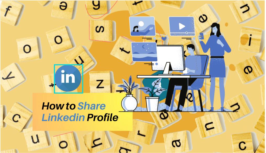 how to share linkedin profile