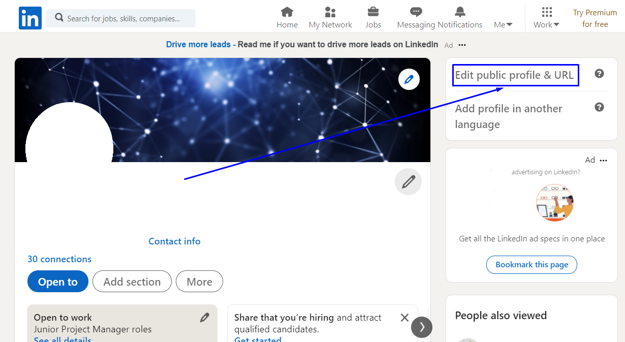 how to share a link to your linkedin profile