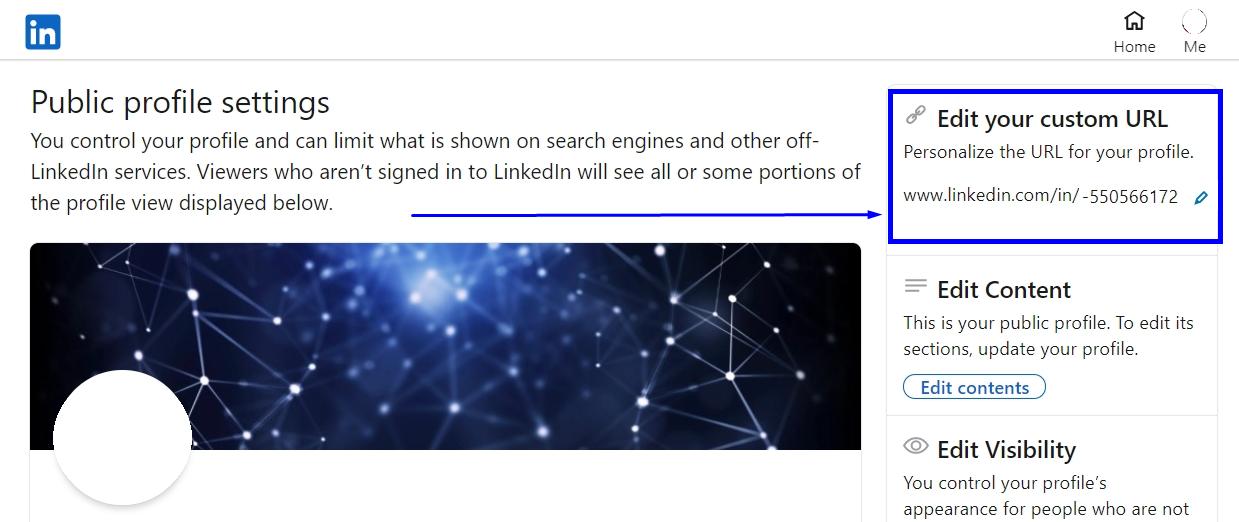how to share my linkedin profile URL
