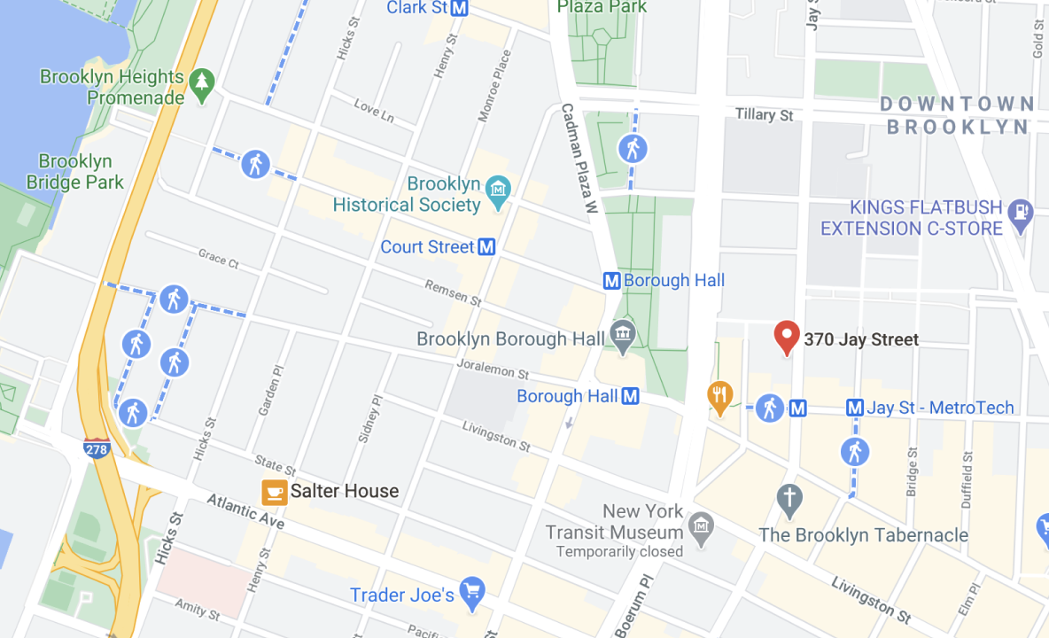 Map showing Leda headquarters in NY