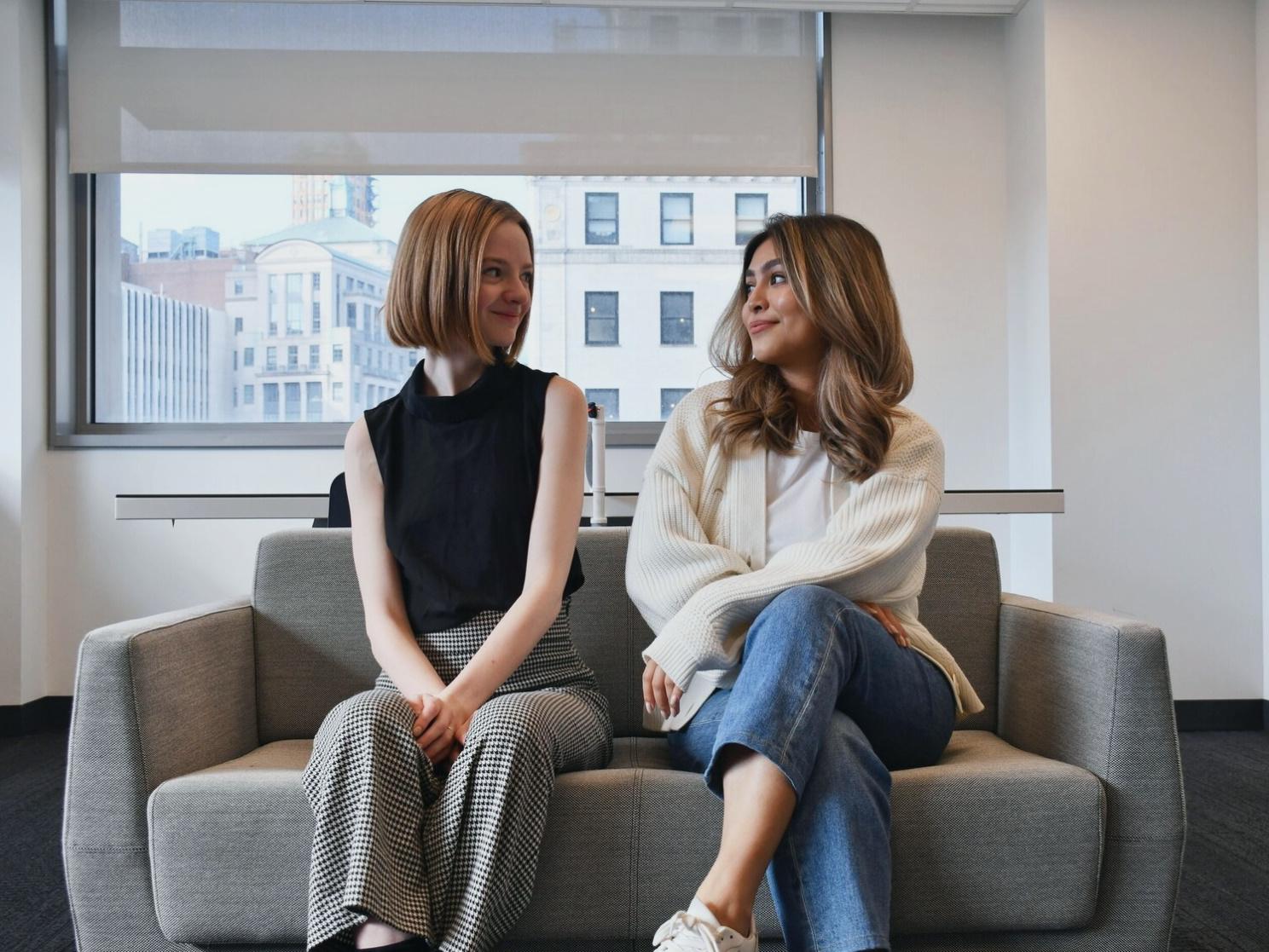 Liesel Vaidya and Madison Campbell