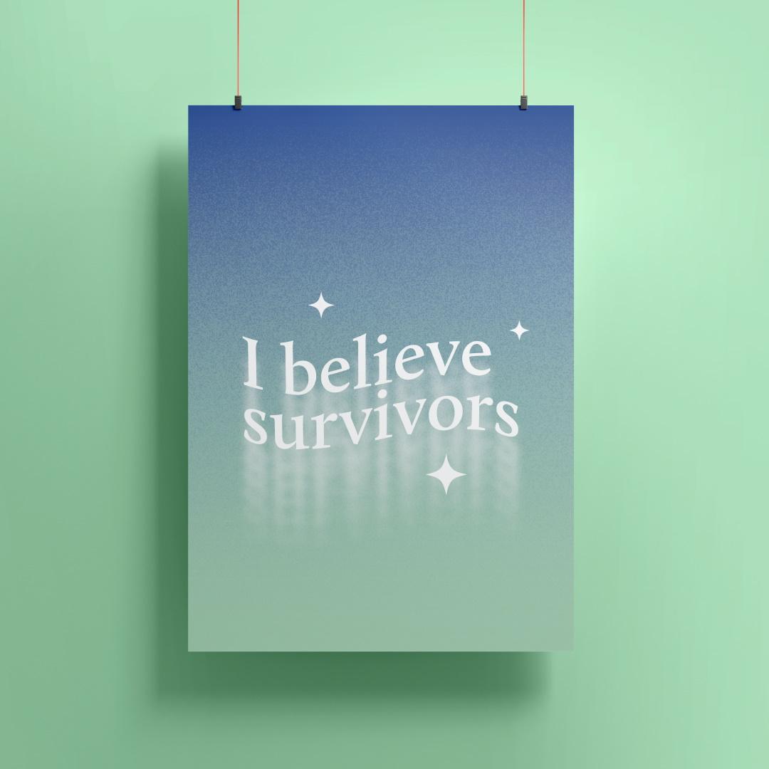 """I believe survivors"" - #NewNormal poster"
