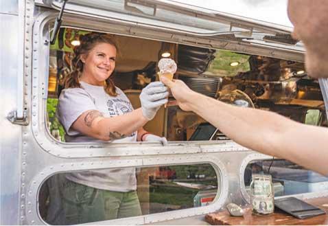 Airstream Snack Shack serving Lik's Ice Cream