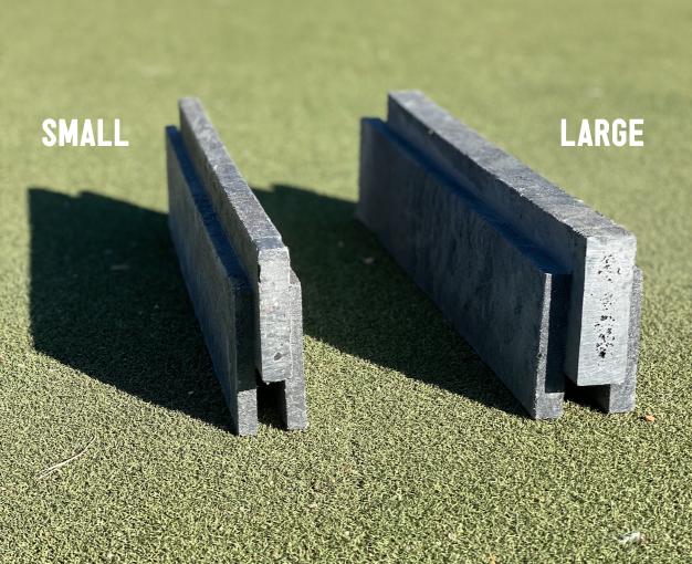 size comparison of Reblock's small and large blocks