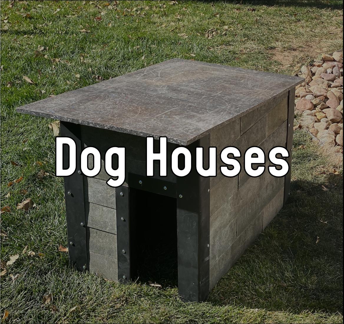 Dog house made out of ReBlock bricks