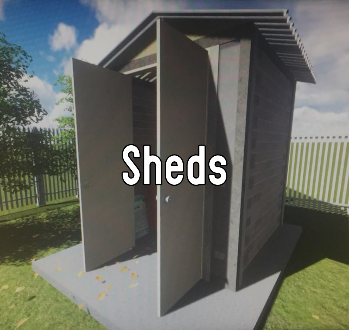 a shed made of reblocks