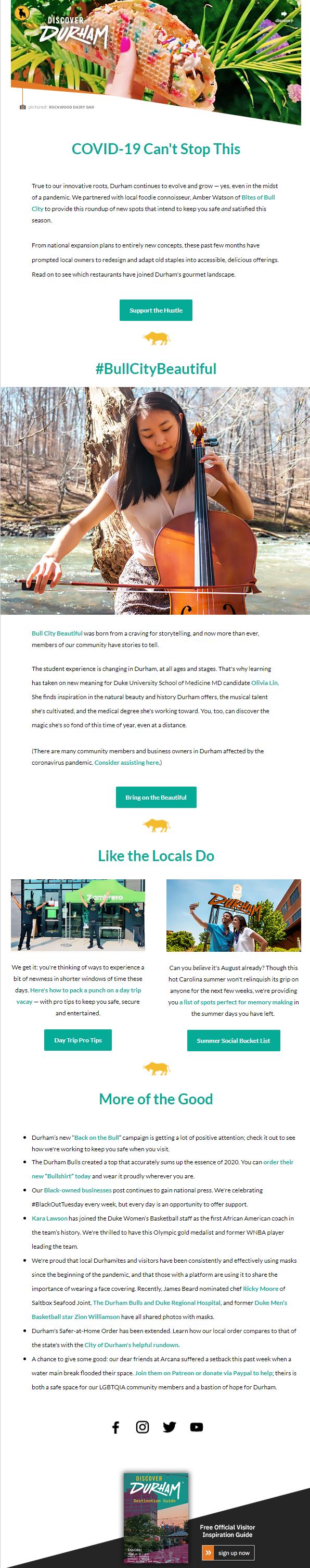The redesigned flagship e-newsletter