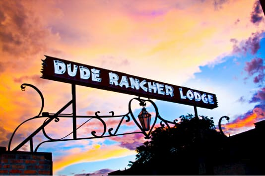 Dude Rancher Lodge sign