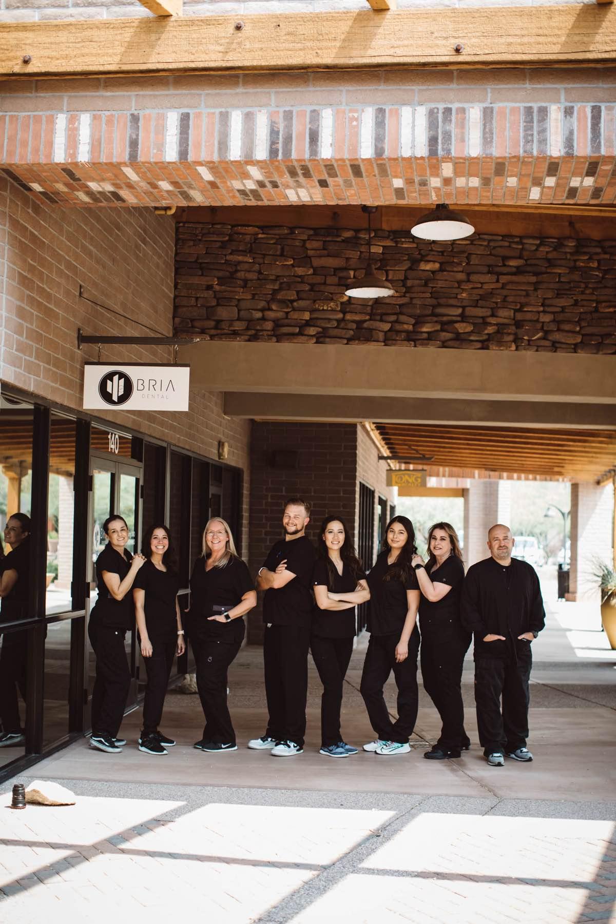 Photo of the Bria Dental team