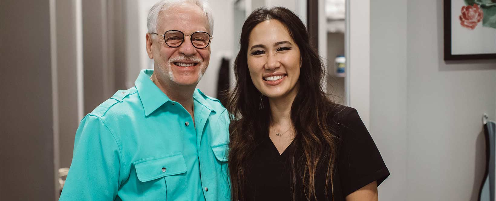 Photo of Dr. Sarah Chang and a Bria Dental patient