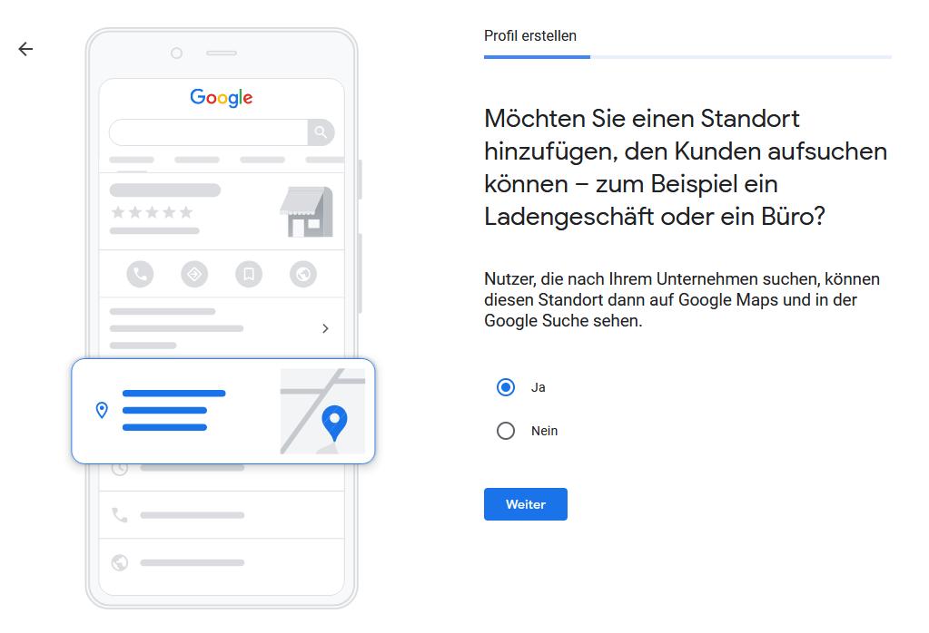 Google My Business - Schritt 3