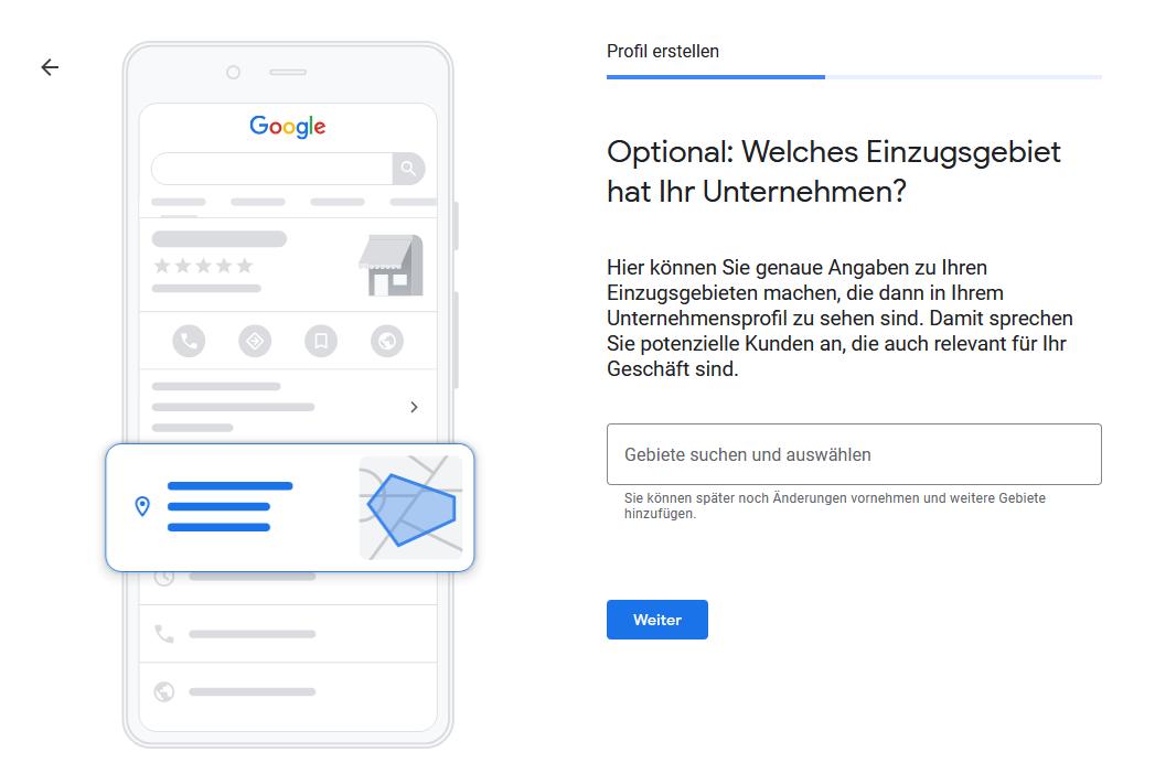 Google My Business - Schritt 4