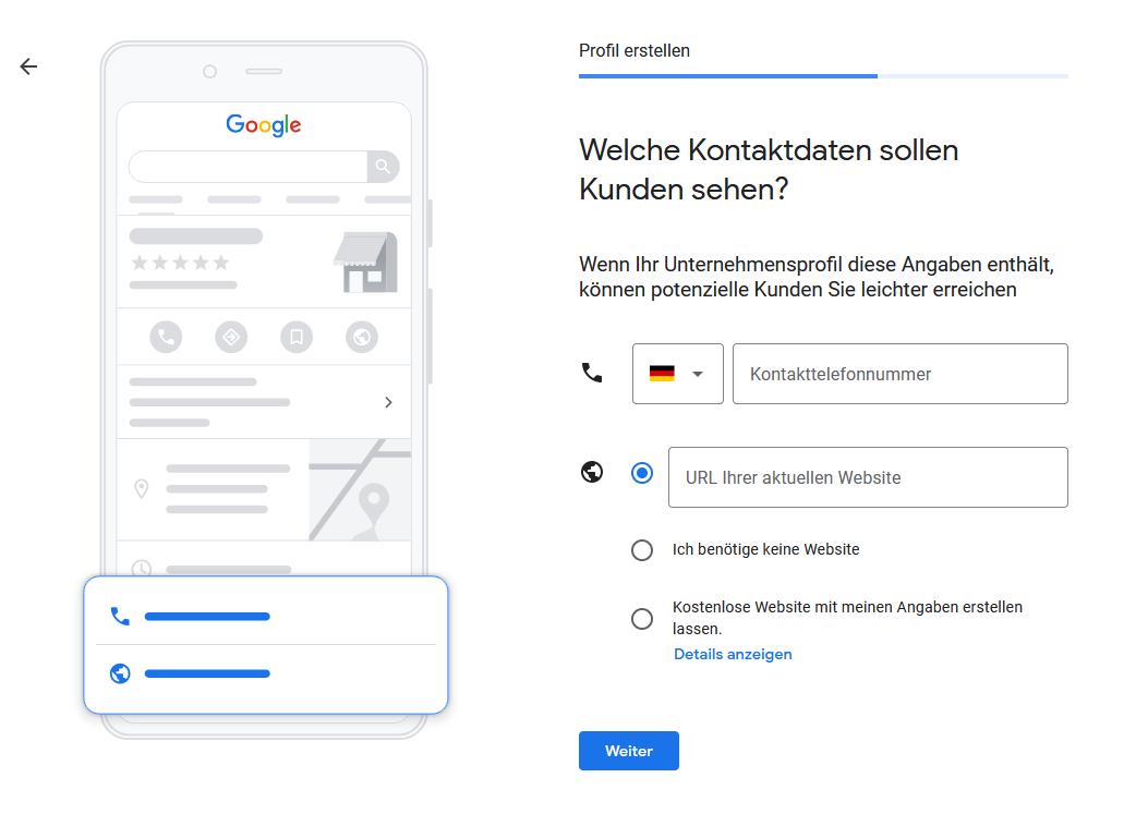 Google My Business - Schritt 5