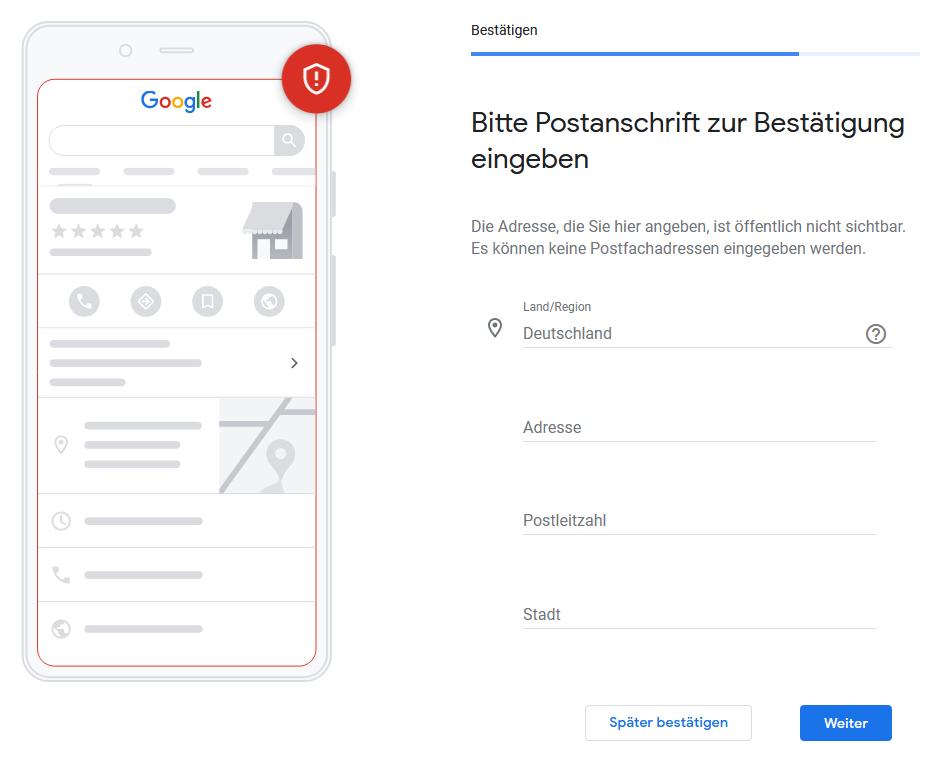 Google My Business - Schritt 6