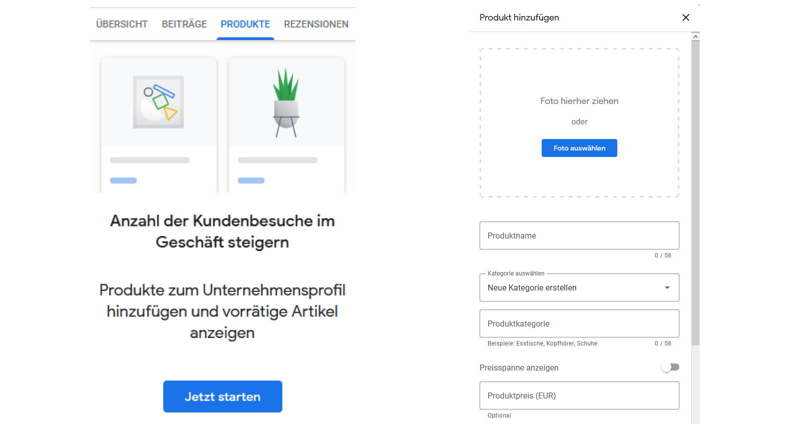Google My Business - Produkte & Dienstleistungen eintragen