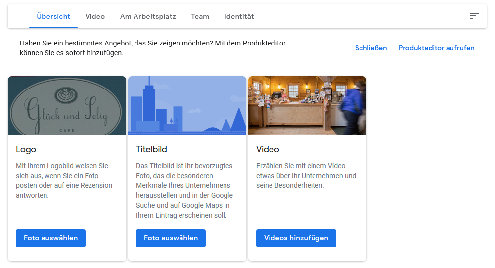 Google My Business - Fotos hochladen