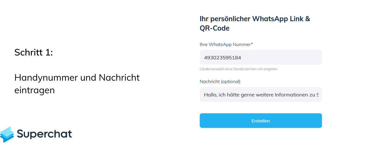 WhatsApp QR Code mit Superchat - Schritt 1