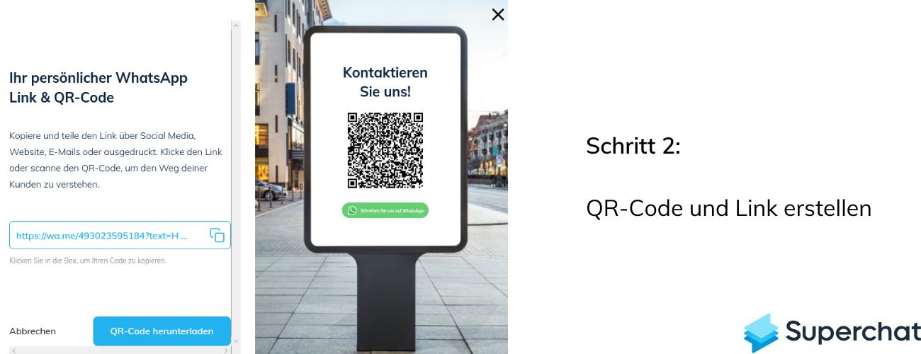 WhatsApp QR Code mit Superchat - Schritt 2