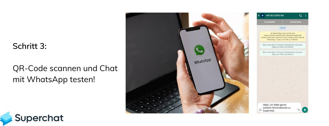 WhatsApp QR Code mit Superchat - Schritt 3