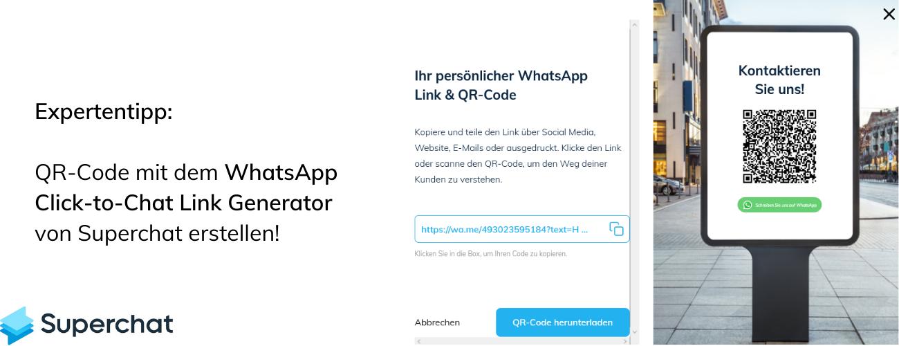 Expertentipp: WhatsApp QR Code erstellen