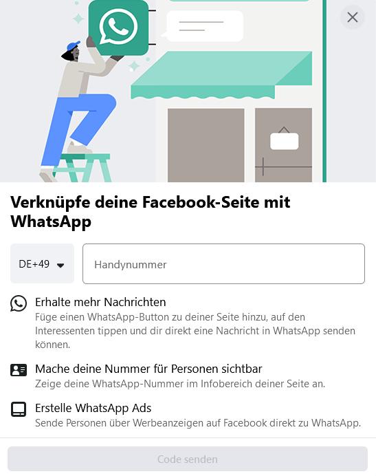 Facebook Business Seite erstellen - Whatsapp