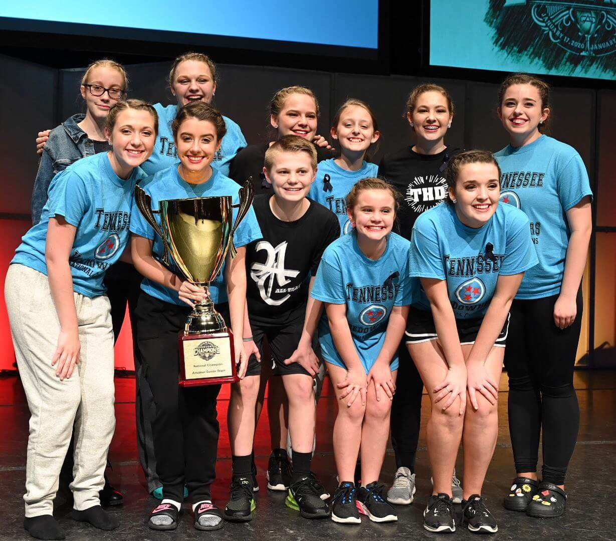 2020 Showdown of Champions Overall Amateur Senior Contemporary Team — Tennessee Hoedowners Junior