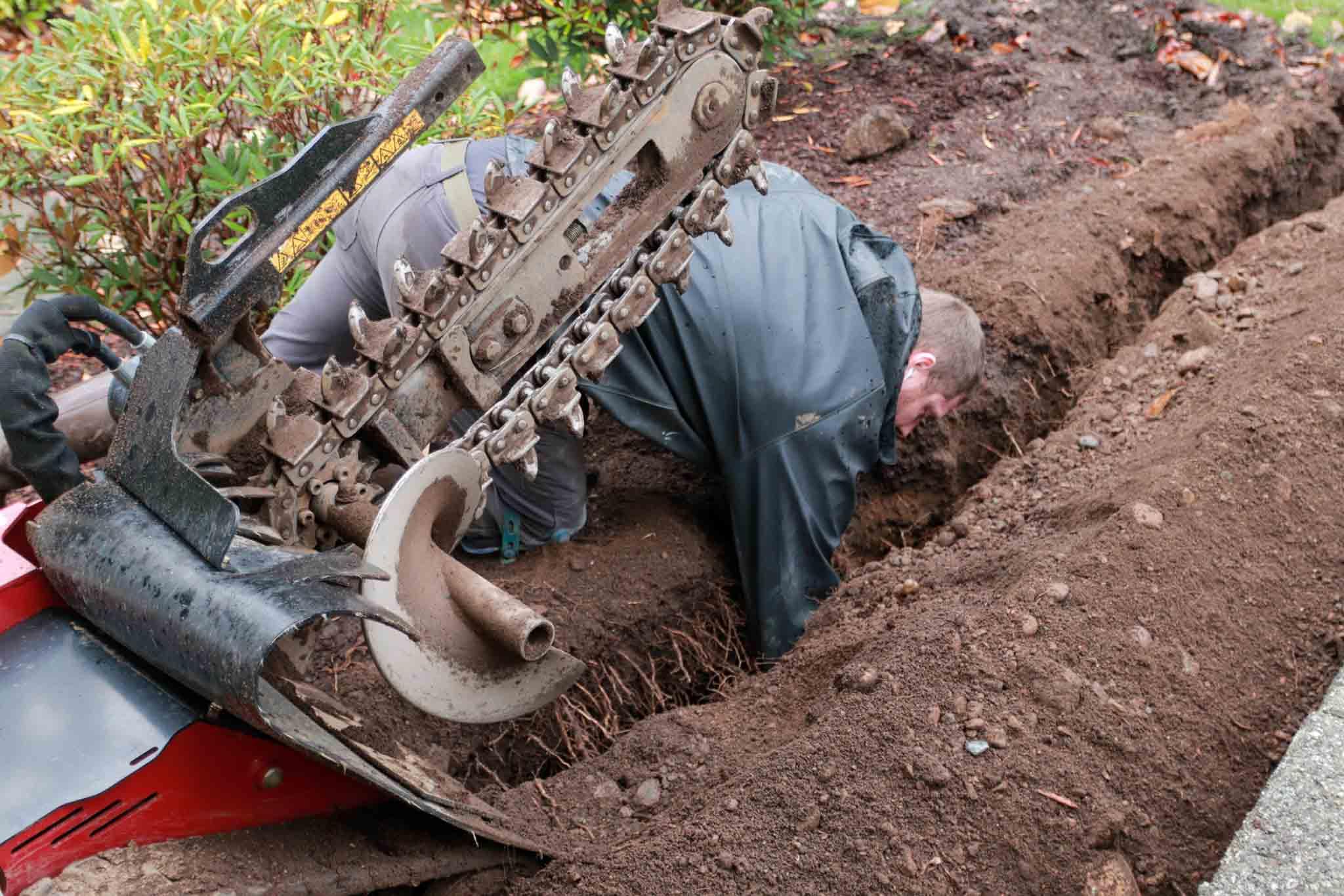 Anacortes Plumbing employee at work.