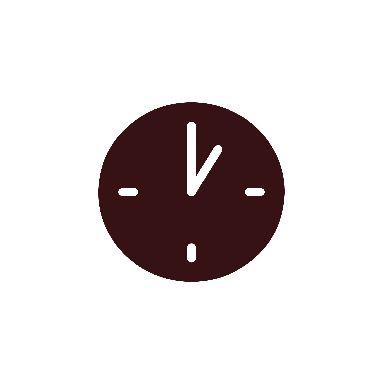 """Clock"" icon by Artdabana@design, from thenounproject.com"