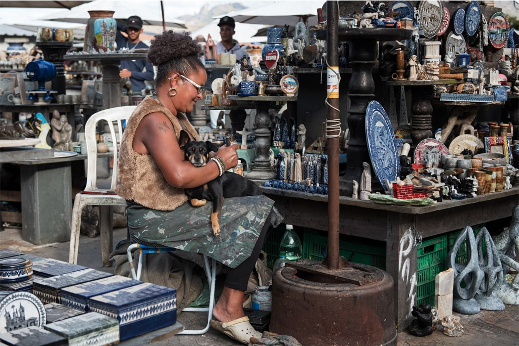Credit Accessibility Visual of a Woman in a Market