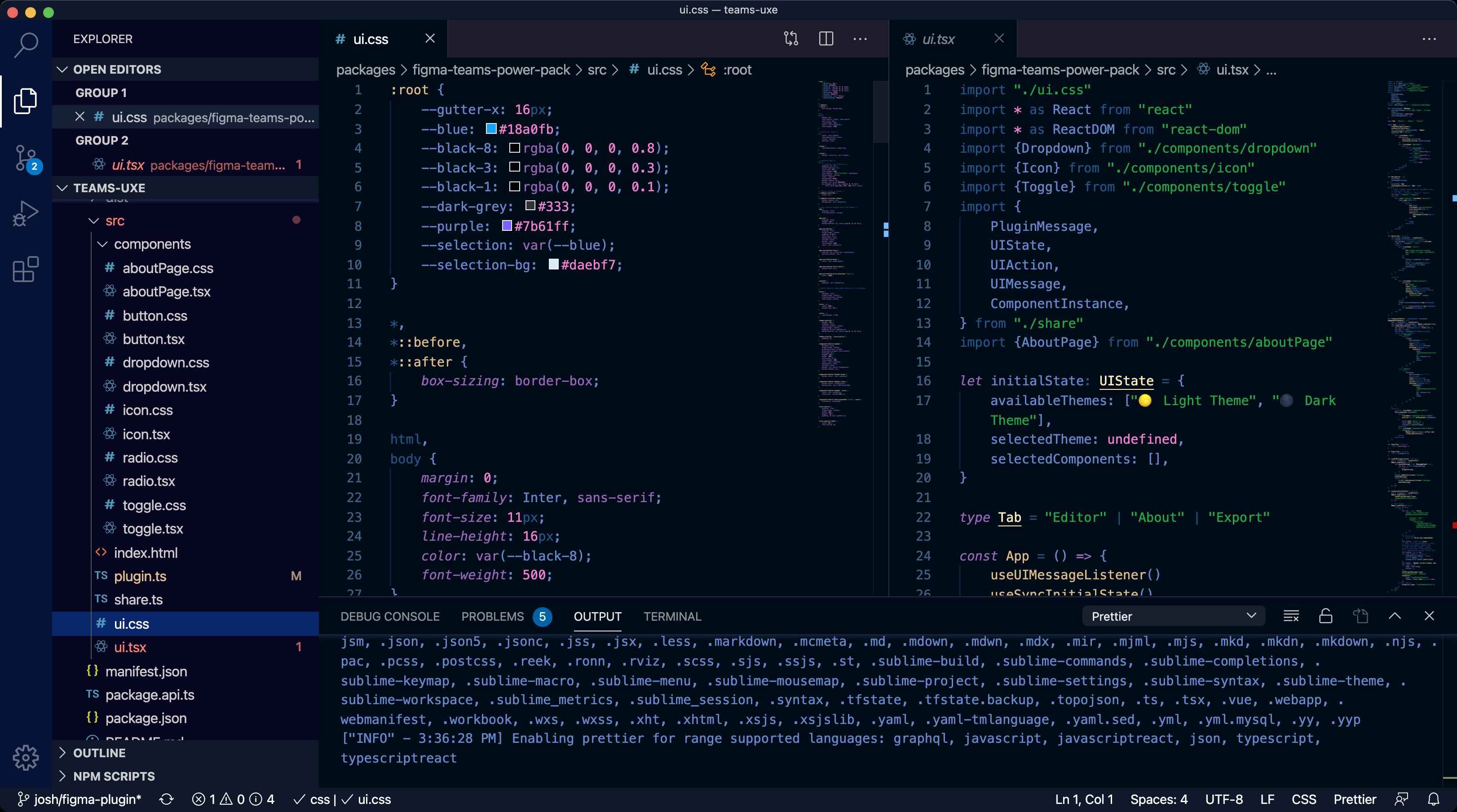 compiled code in Visual Studio Code desktop app