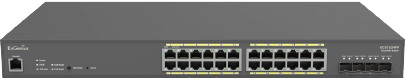 Cloud Managed 410W PoE 24-Port Network Switch with Surveillance Features