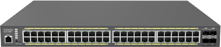 Cloud Managed 740W PoE 48-Port Network Switch with Surveillance Features