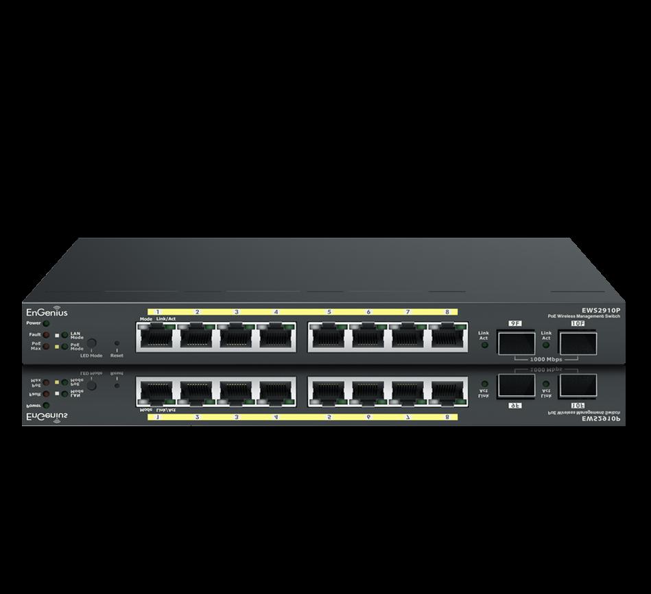 8-Port Managed Gigabit 55W 802.3af Compliant PoE Network Switch