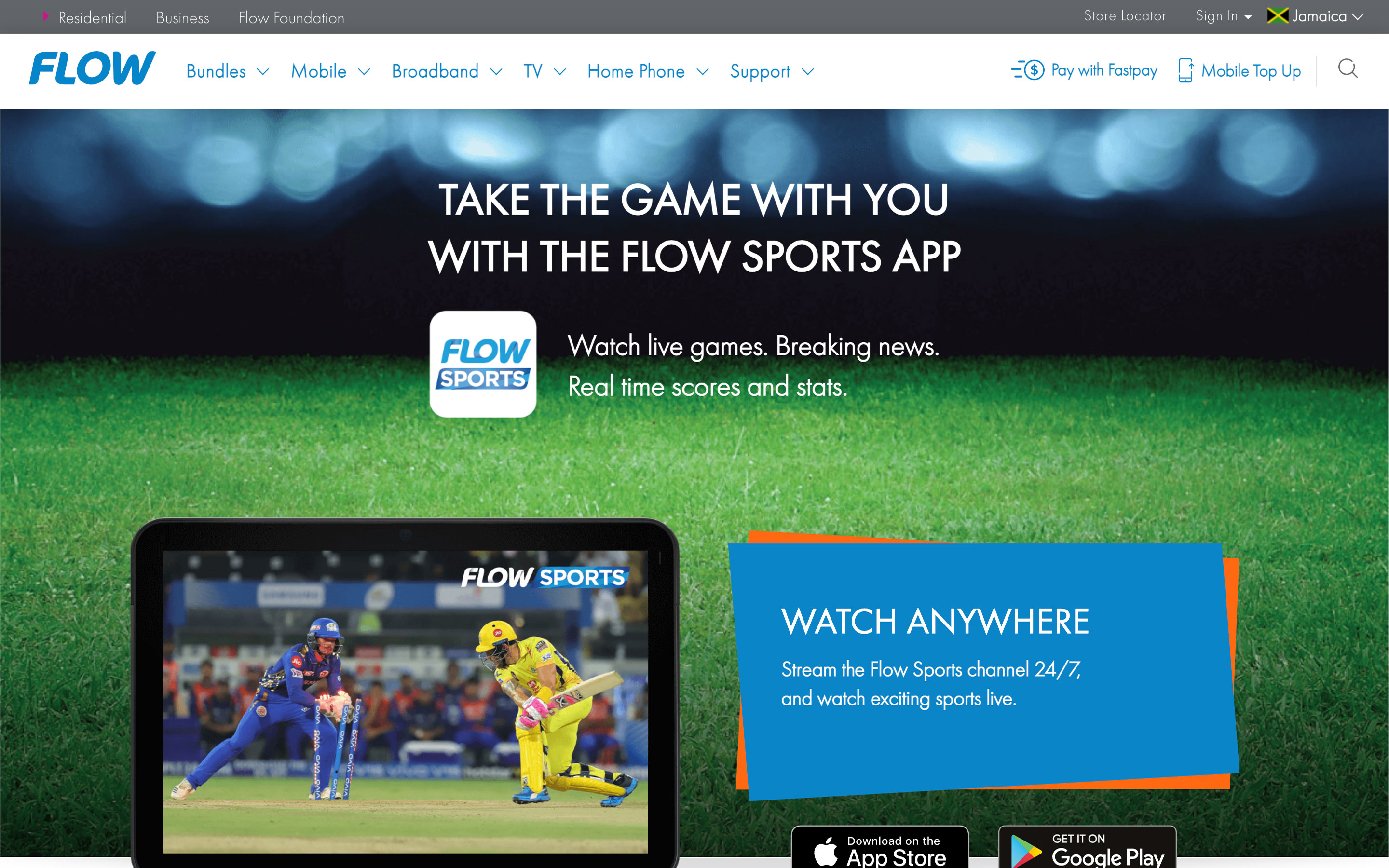 The updated Flow Sports app was launched on iOS, Android and web browsers within only four weeks.