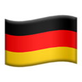 Flag: Germany on Apple iOS 14.6