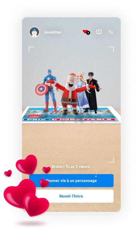 Carrefour et Wonder Partner's vous dévoile le catalogue de jouets de Noël en réalité augmentée.