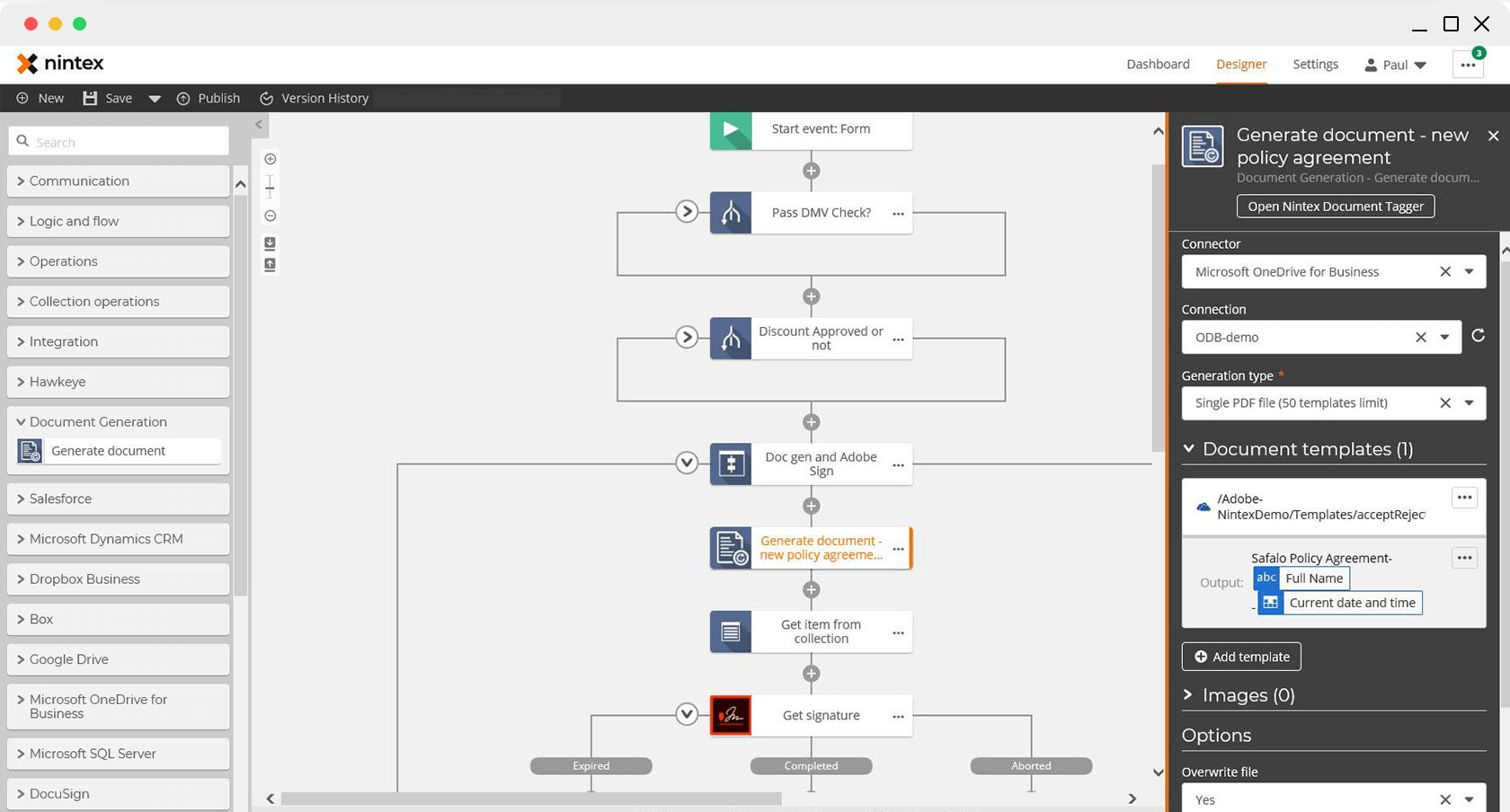 Dynamické generovanie dokumentov.