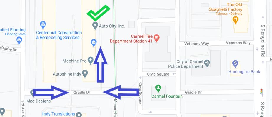 Map to Auto City