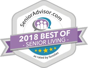 voted 2018 best senior living community by senior advisor
