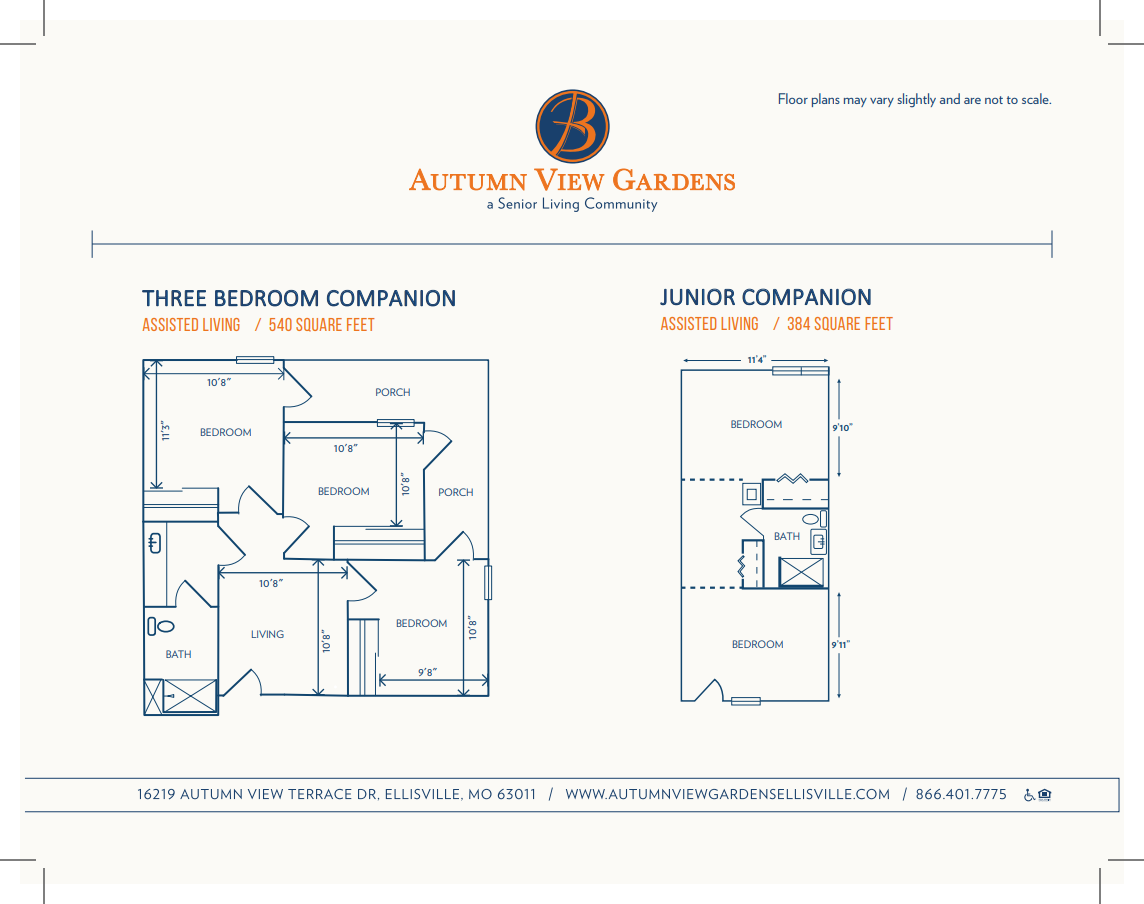 autumn view gardens assisted living floor plans